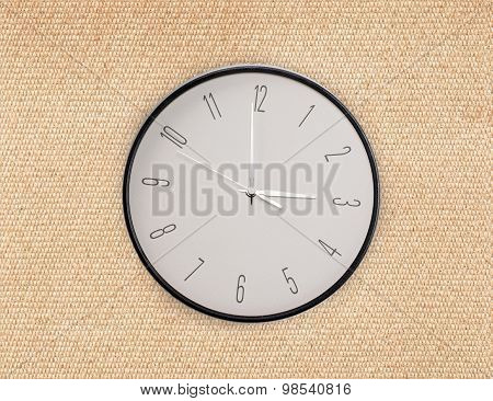 Round Hours On Fabric