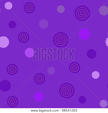 Seamless pattern with violet circles
