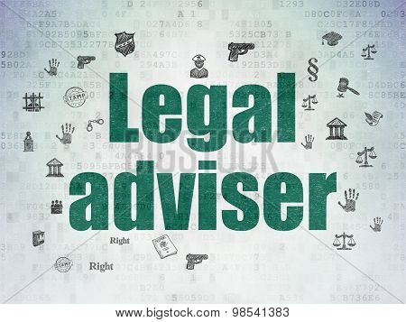 Law concept: Legal Adviser on Digital Paper background