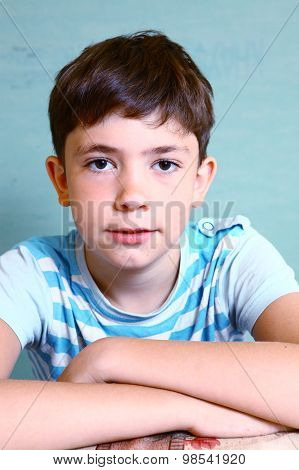 teenager boy close-up face portrait