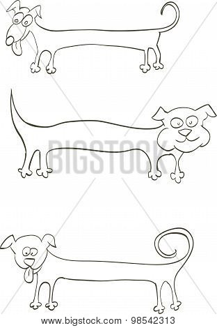 Long Dog For Inscriptions On The Body