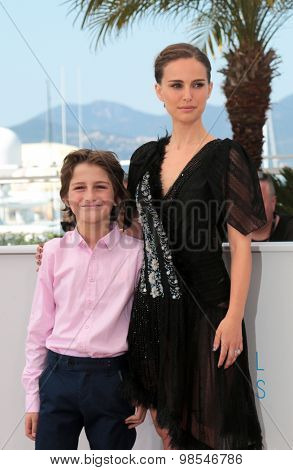 Gilad Kahana, Natalie Portman attend the 'A Tale Of Love And Darkness' Photocall during the 68th annual Cannes Film Festival on May 17, 2015 in Cannes, France.