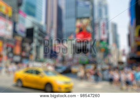 Blurred Times Square Background