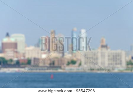 Blurred Cityscape View In Daylight