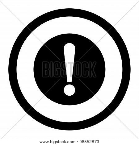 Problem flat black color rounded vector icon
