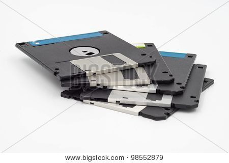 Floppy Disk Isolated On White Background.