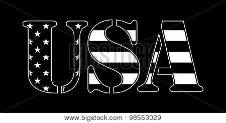 USA flag text
