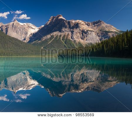 Emerald Lake In The Early Morning Light