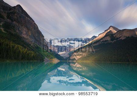 Glacier Reflecting At Lake Louise