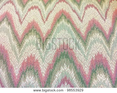 pink and green abstract zigzag