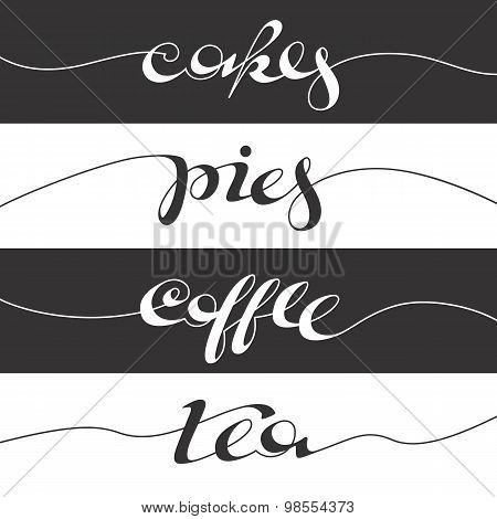 Hand Written Cafe Poster