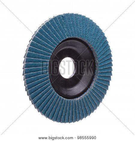 Abrasive wheel isolated on white background
