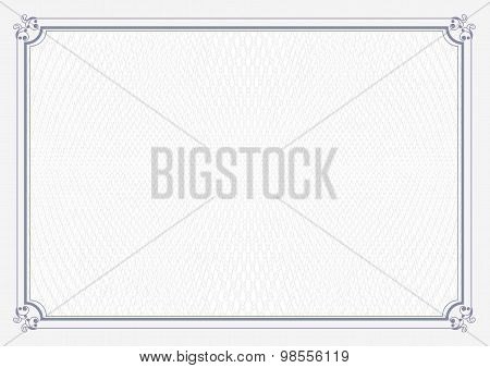 A4 size certificate retro background with blue border