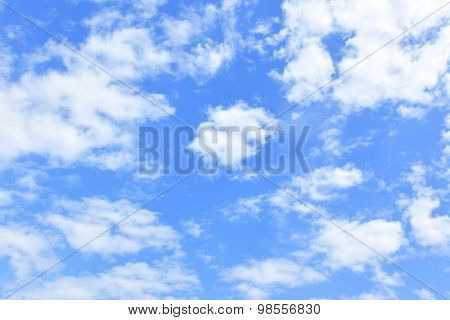 Sky background - only clouds in the blue sky