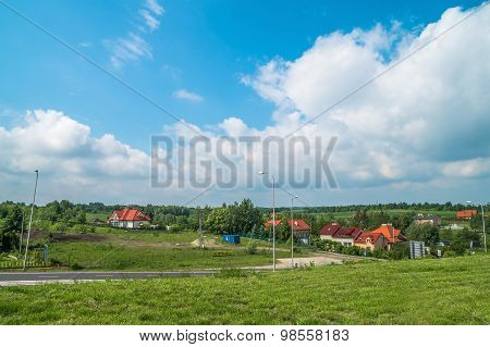 View Of The Polish Countryside In Summer