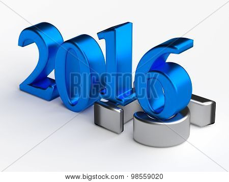 3D Numbers. 2016 New Year Over 2015