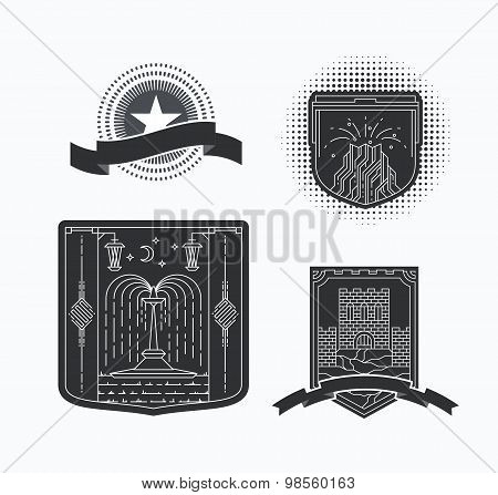 Line Graphical Emblems