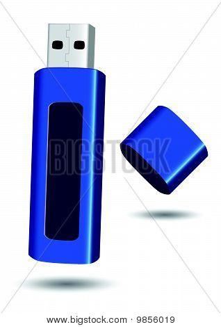 USB flash drive vector illustration.