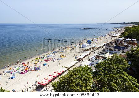 Beach At The Baltic Sea At Summer Day