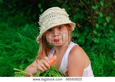 Girl Gnaws Carrot