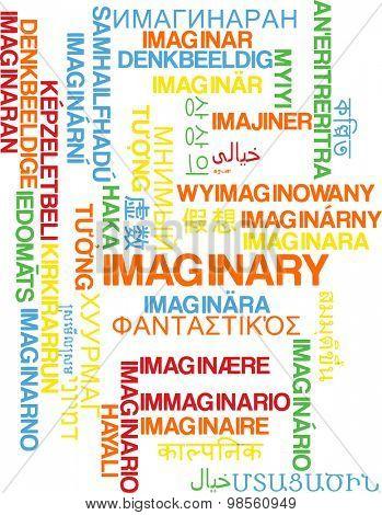 Background concept wordcloud multilanguage international many language illustration of imaginary