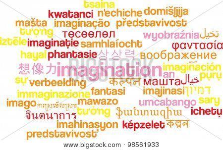 Background concept wordcloud multilanguage international many language illustration of imigination