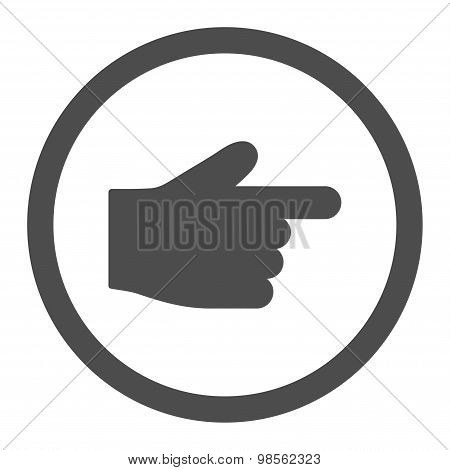 Index Finger flat gray color rounded raster icon