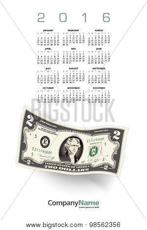 2016 Money calendar