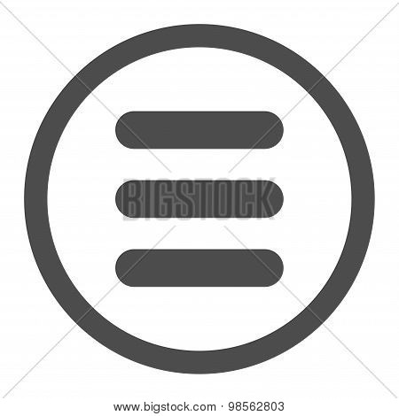 Stack flat gray color rounded raster icon