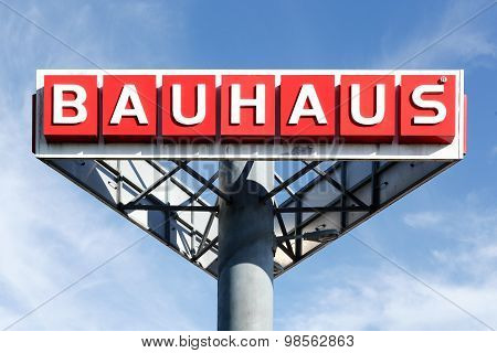 Bauhaus logo in the sky