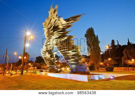 Dromeas statue