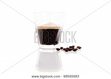 Espresso Isolated Over White.