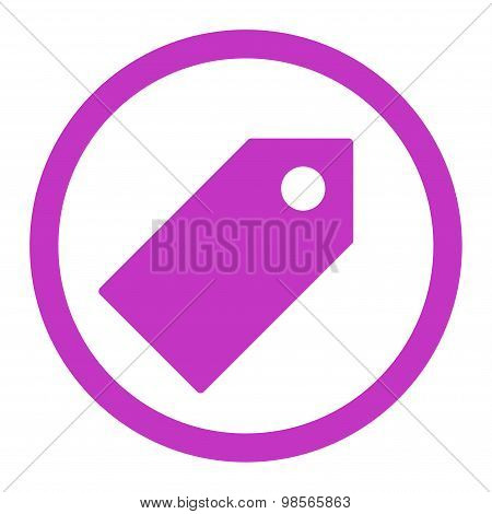 Tag flat violet color rounded raster icon