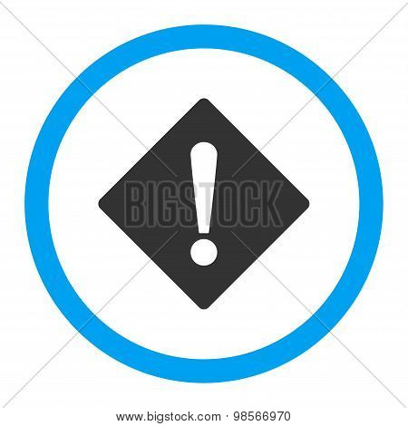 Error flat blue and gray colors rounded vector icon