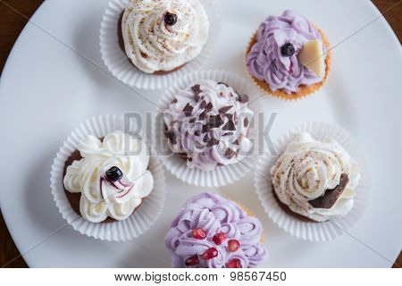 Yummy Cupcakes On The Plate