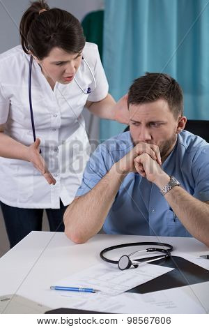 Dispute Between Two Doctors