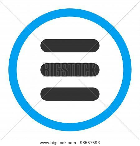 Stack flat blue and gray colors rounded vector icon