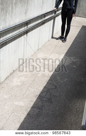 Woman Walking After Exercises