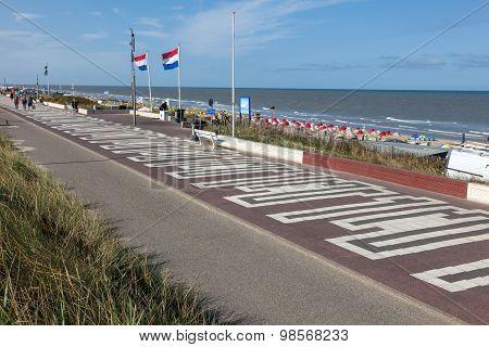 Promenade In Zandvoort, Netherlands