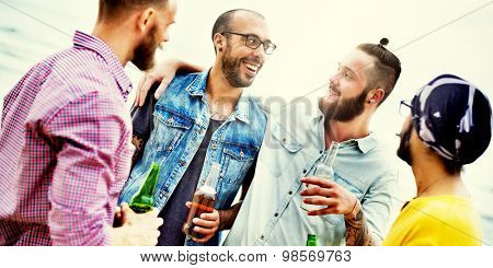 Celebration Cheers Hipster Drinking Together Friends Concept