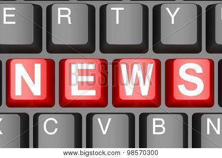 News Button On Modern Computer Keyboard