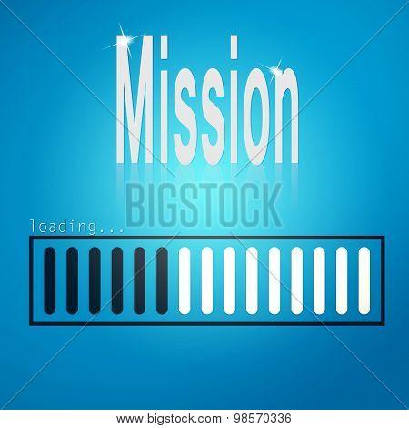 Mission Blue Loading Bar