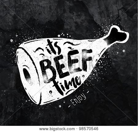 Poster Beef Chalk