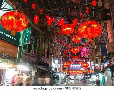 Chinese Market At Night