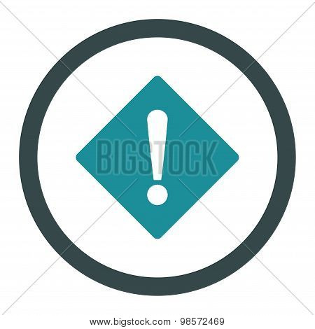 Error flat soft blue colors rounded vector icon
