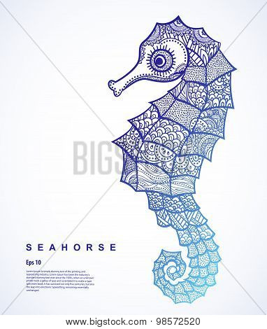 Vector Tribal Seahorse illustration