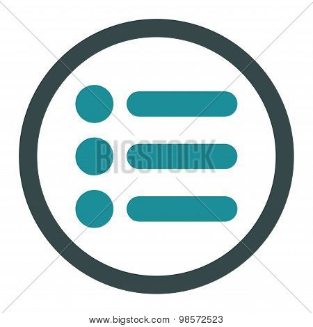 Items flat soft blue colors rounded vector icon