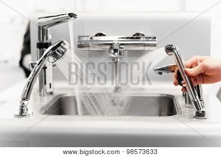 set of water mixing faucets