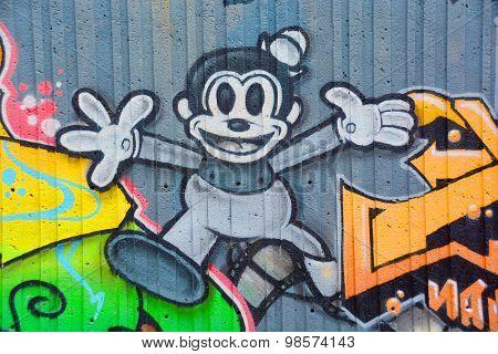 Street art Mickey mouse