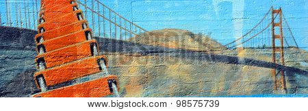Mural of Golden Gate Bridge